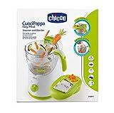 Chicco Easy Meal - Robot de cocina que ralla, cocina al vapor, tritura, descongela y calienta