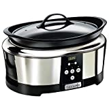 Crock-Pot SCCPBPP605-050 Olla de cocción lenta digital para preparar multitud de recetas, 230 W, 5.7 litros, Acero...