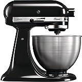 KitchenAid 5K45SSEOB Robot DE Cocina DE 4,3 L Classic Onix, 275 W, 4.3 litros, Acero Inoxidable, 10 Velocidades, Negro,...