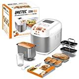 Imetec Zero-Glu - Panificadora, 20 Programas Pan y Dulces, sin Gluten, Accesorios para 3 Formas de Pan, Temporizador Digital,...