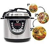 Olla GM Programable Modelo G Deluxe. Robot de Cocina multifunción Que Cocina por ti, con Capacidad de 6 litros (hasta 12...