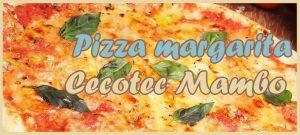 pizza margarita con robot de cocina mambo black