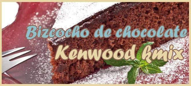 Receta de Bizcocho de chocolate negro kmix