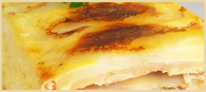 pastel de atun y patata gratinado