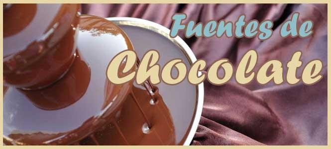 fuentes de chocolate baratas